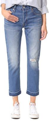 Levi's 501 Frayed Hem Jeans $98 thestylecure.com