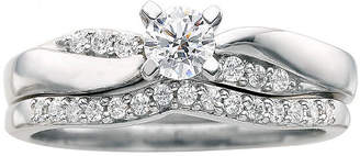 MODERN BRIDE I Said Yes 3/8 CT. T.W. Certified Diamond Bridal Ring Set