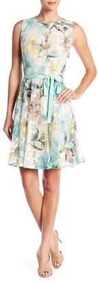Gabby Skye Flowers & Lace Dress