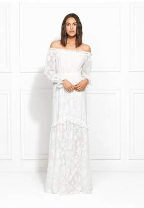 Rachel Zoe Laylah Floral Fil Coupe Off-The-Shoulder Gown
