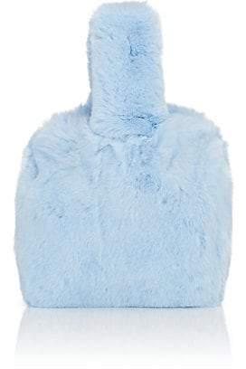 Barneys New York Women's Rabbit Fur Wristlet Bucket Bag - Blue
