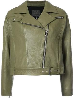 Paige cropped biker jacket