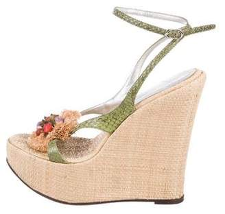 d952f036ce045 ... Heel Flip Flops Wedges Slipper  Pre-Owned at TheRealReal · Dolce  Gabbana Snakeskin Platform Wedges exquisite style b948a fcde2 ...