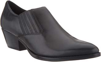 Marc Fisher Leather Slip-On Western Booties - Loori