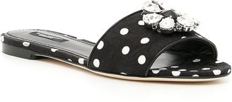 Polka Dots Brocade Sandals $451 thestylecure.com