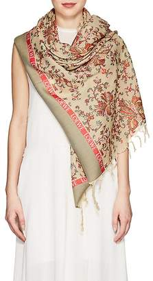 Loewe Women's Tapestry-Look Wool-Blend Scarf