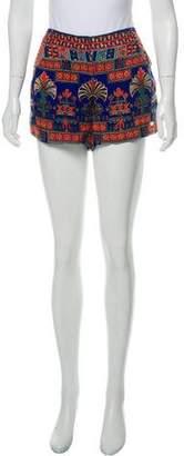 Anna Sui Printed Mini Shorts