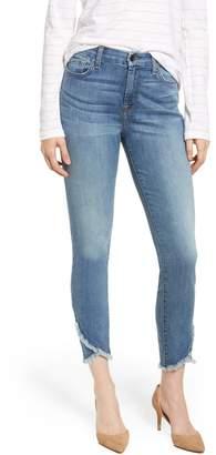 Jen7 Scalloped Hem Ankle Skinny Jeans