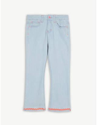 Billieblush Billie Blush Wave hem cotton flared jeans 4-12 years