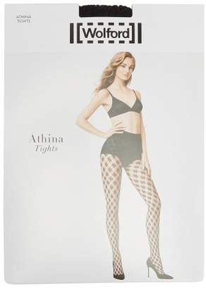 Wolford Athina Net Tights - Womens - Black