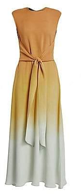 Lafayette 148 New York Women's Winslet Prism Ombré Tie-Front Maxi Dress