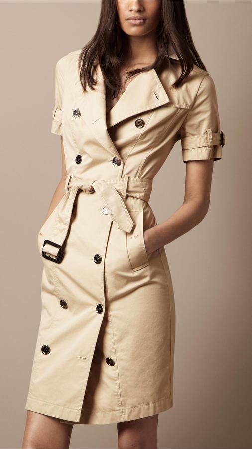 Burberry Cotton Gabardine Trench Dress