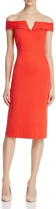 Alice + Olivia Sienna Off-The-Shoulder Dress $330 thestylecure.com
