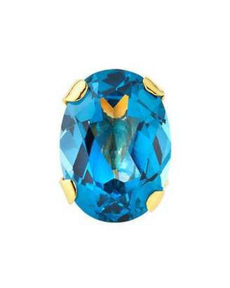 Devon Leigh Blue Cubic Zirconia Oval Ring