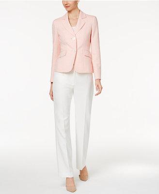 Le Suit Colorblocked Jacquard Pantsuit $200 thestylecure.com