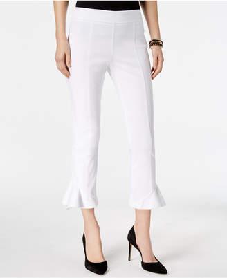 INC International Concepts I.n.c. Petite Ruffled-Hem Capri Pants