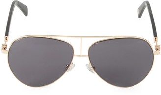 Balmain 59MM Browline Aviator Sunglasses