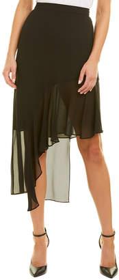 BCBGMAXAZRIA Ruffled Midi Skirt