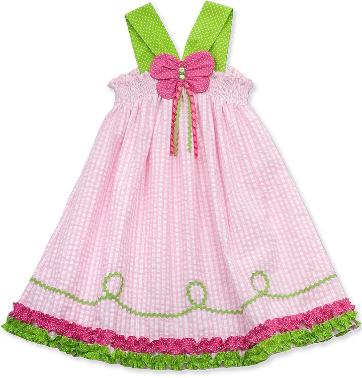 Rare Editions Girls Dress, Little Girls Butterfly Seersucker Sundress