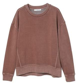 MANGO Distressed-effect sweatshirt