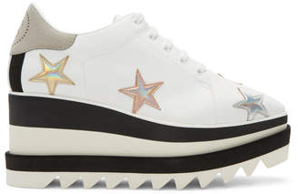 Stella McCartney White Elyse Stars Platform Derbys