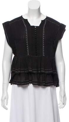 Isabel Marant Fluted Tiered Top