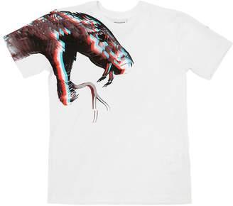 Marcelo Burlon County of Milan Snake 3d Print Cotton Jersey T-Shirt