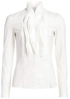 Akris Punto Women's Wave Ruffle Tuxedo Shirt