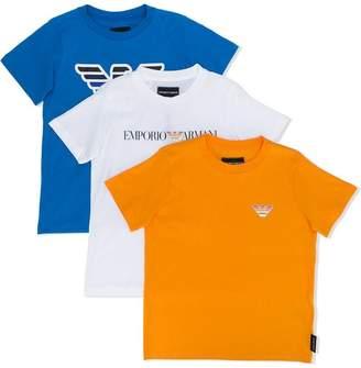 Emporio Armani Kids set of three T-shirts