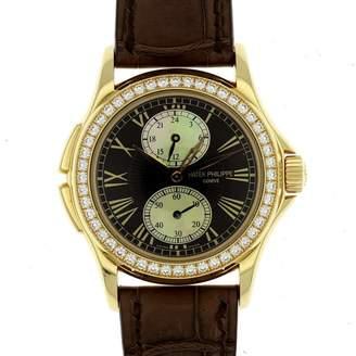 Patek Philippe Calatrava Travel Time 4934 R 18K Rose Gold & Leather Manual 35mm Womens Watch