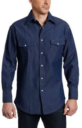 Wrangler Men's Western Cowboy Cut Two Pocket Long Sleeve Snap Workshirt