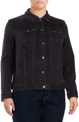 Vince Camuto Women's Denim Jacket - Slate Wash, Size 1x (14-16)