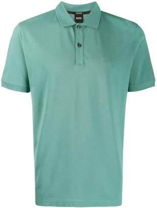 46fc696c4 HUGO BOSS logo embroidered polo shirt