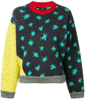 Alanui patchwork star jumper