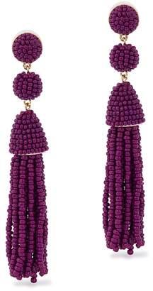 BaubleBar Granita Beaded Tassel Drop Earrings