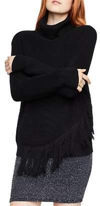 BCBGeneration Fringed Turtleneck Sweater