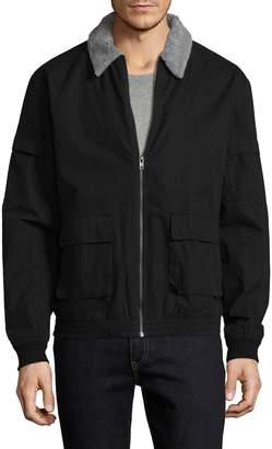 Zanerobe Men's Sherpa Plush Collar Cotton Jacket