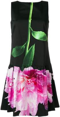 Moschino carnation print mini dress