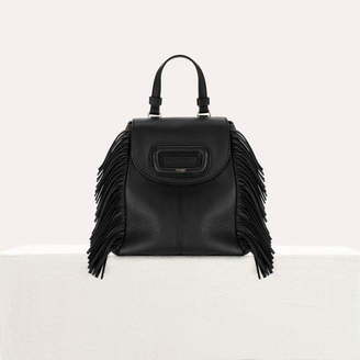 Maje Mini M backpack in leather with chain