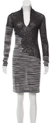 Missoni Long Sleeve Knee-Length Dress