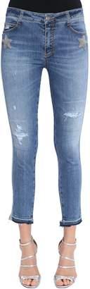 Ermanno Scervino Skinny Stars Washed Denim Jeans