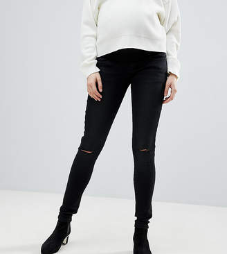 Supermom Maternity Skinny Under The Bump Jeans With Adjustable Waist