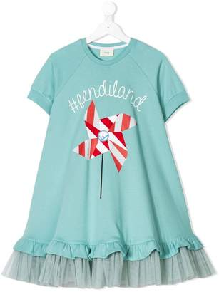 Fendi flared shortsleeved dress