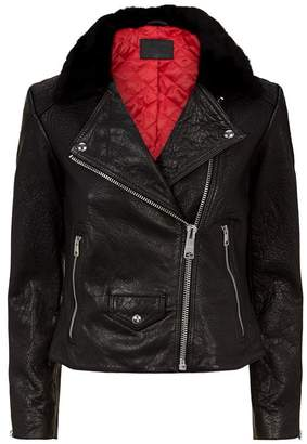 AllSaints Pataya Leather Lux Biker Jacket
