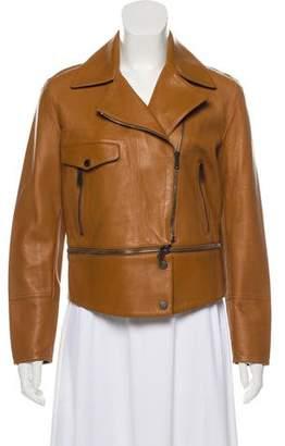 Belstaff Leather Cropped Jacket