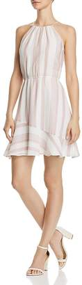 Aqua Striped Voile Fit-and-Flare Dress - 100% Exclusive