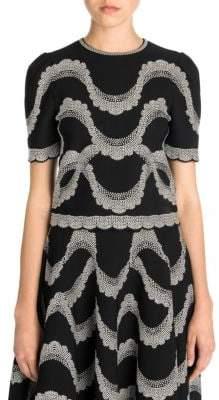 Alexander McQueen Short Sleeve Swirl Top