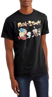 Nickelodeon Movies & TV Ren and Stimpy Men's Short Sleeve Graphic T-shirt, up to Size 3XL