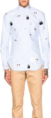 Thom Browne Icon Embroidery Oxford Shirt $1,225 thestylecure.com