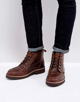 Farah East Lace Up Boots